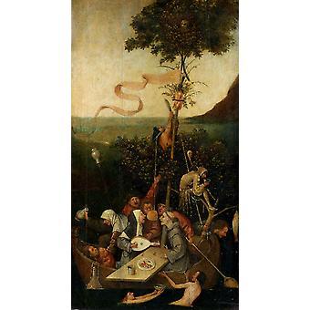 The Ship of Fools, Hieronymus Bosch, 80x43cm