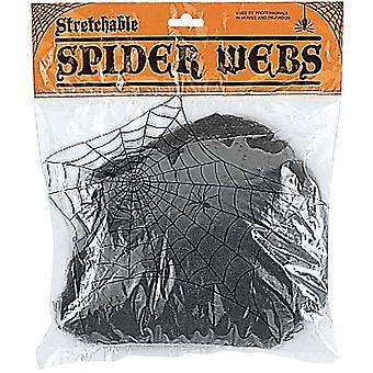 Elastisk sort Web. Spindelvæv og klud.