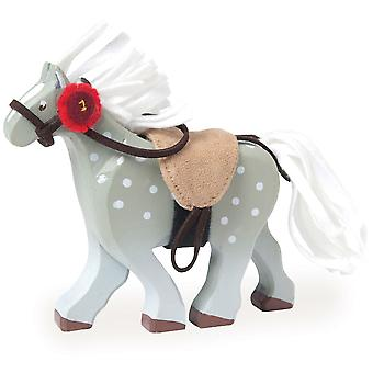 Le Toy Van Traditional Toys Silver Horse with Rosette