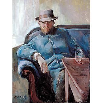 الرجل، إدوارد مونش.50x38cm