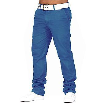 Herren CHINO Hose Jeans Stoff Hose Baumwolle Regular Fit Basic Design Chinohose
