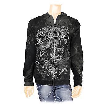 2K2BT Carnival Black and Grey Zip Up Hoodie