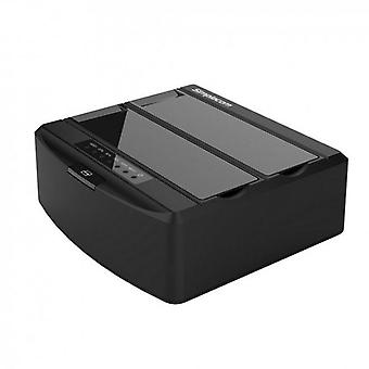 Dual Bay USB Docking Station for SATA Drive Black