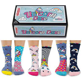 United Oddsocks Unicorn Daze Sock Gift Set For Girl's