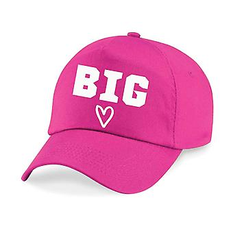 Kids Big Heart Baseball Cap Girls