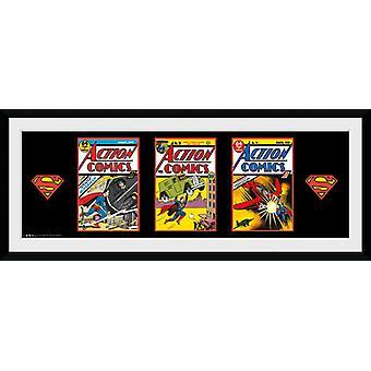 Superman 3 Comics ingelijst Collector Print 75x30cm