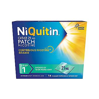 Niquitin Step 1 Clear 21mg 14 Patches (2 Week Kit)