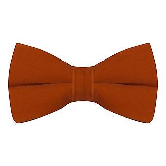 Luxe Amber Brown / Burnt Orange velours noeud papillon