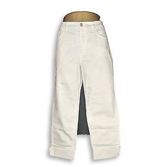 Denim & Co. kvinder ' s Petite jeans Studio klassisk denim manchet hvid A305413