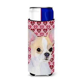 Chihuahua Hearts Love and Valentine's Day Portrait Ultra Beverage Insulators for