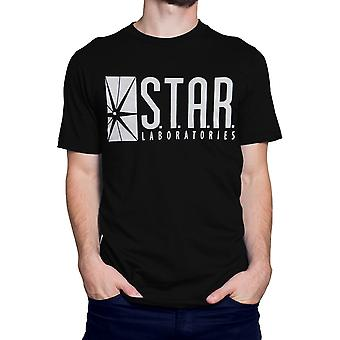 Camiseta negra de Flash Star Labs