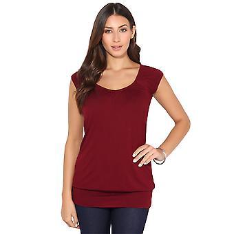 KRISP KRISP dames Low Cut Plain Hip lange lijn boven T Shirt tuniek zomervakantie 7604