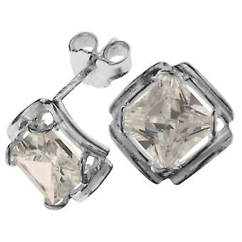 InCollections - Women's lobe earrings with cubic zirconia - sterling silver 925 - cod. 0010261642340