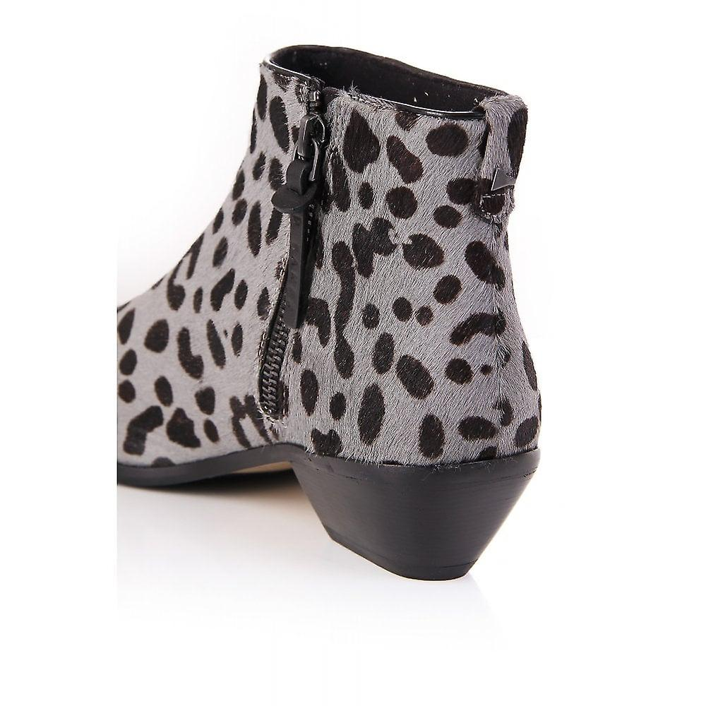 Ted Baker Womens Alinaa Leopard Pony Skin Boot