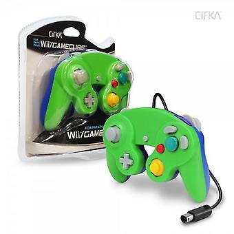 Nintendo Wii/GameCube CirKa controller (groen/blauw)