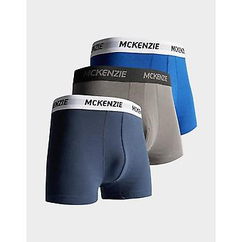 New McKenzie Men's Wyatt 3 Pack of Boxer Shorts Blue