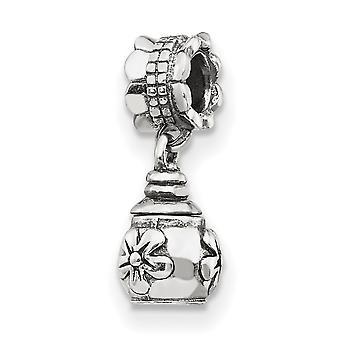 925 Sterling Sølv Polerte Refleksjoner Floral Ash Dangle Perle Sjarm Anheng Halskjede Smykker Gaver til Kvinner