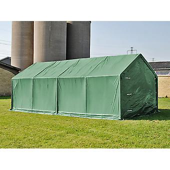 Storage shelter PRO 4x8x2.5x3.6 m, PVC, Green