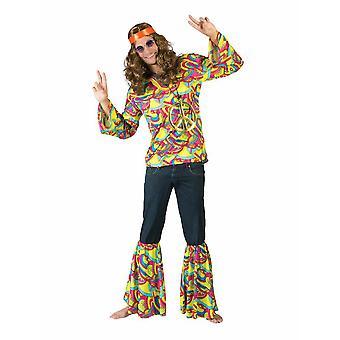 Hippie Flower Child Men's Costume Flower Power Woodstock Costume Homme