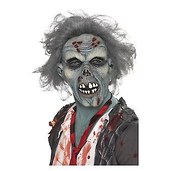 Decaying zombie yläpuolella lateksi naamio Halloween lisä varuste