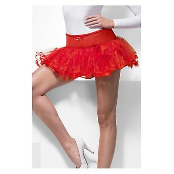 Womens Petticoat rode Fancy Dress accessoire