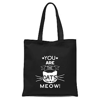 You Are The Cats Meow Tote Bag - Noir