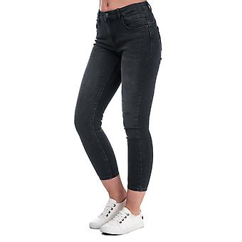 Womens Only Daisy Push Up Skinny Ankle Jeans In Black