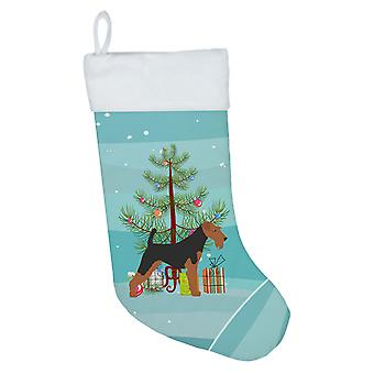 Welsh Terrier Merry Christmas Tree Christmas Stocking