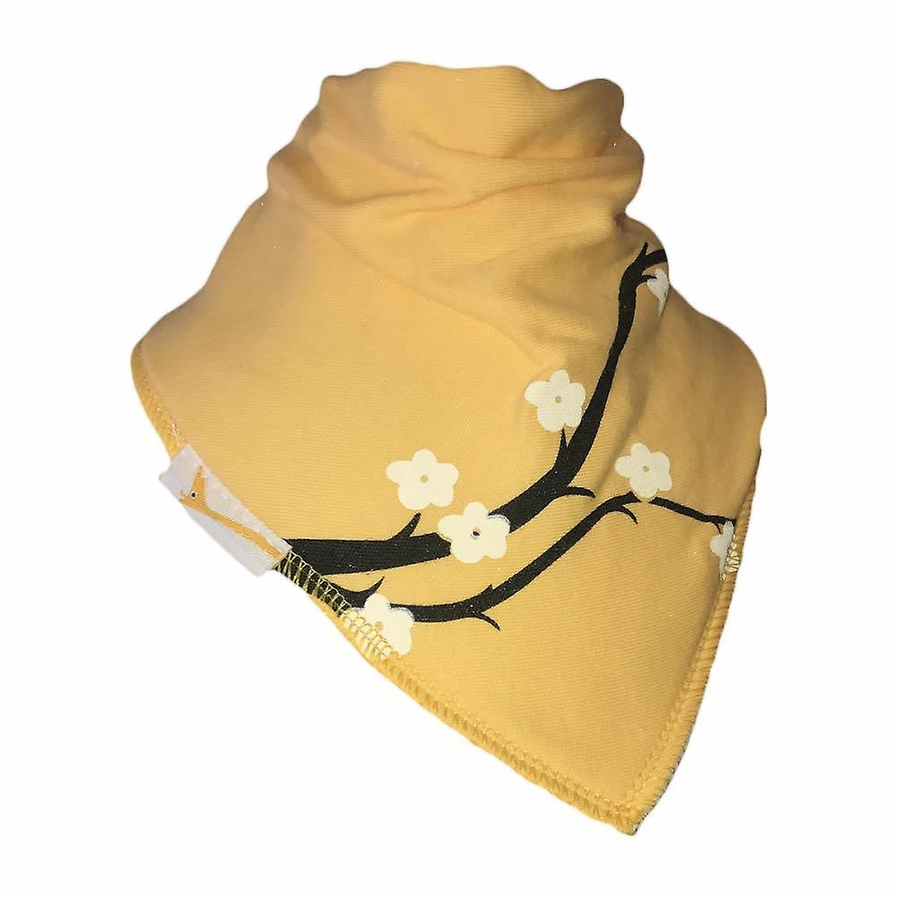 Yellow & white flowers bandana bib