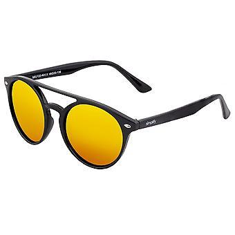 Vereinfachte Finley Polarisierte Sonnenbrille - Schwarz/Rot-Gelb