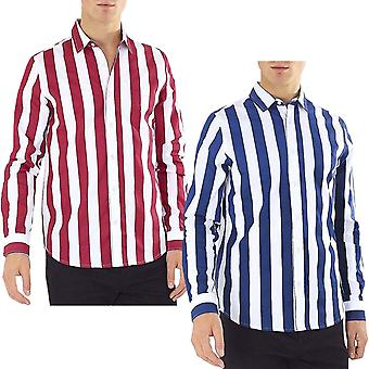 Brave Soul Mens Norris Smart Long Sleeve Button Down Regular Fit Shirt Top