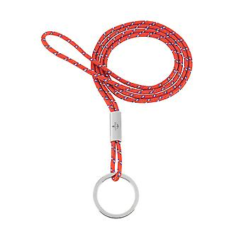 Skipper pendant keychain necklace nylon/stainless steel red 8302