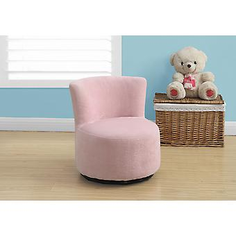 "17'.7"" x 16"" x 18'.5"" Fuzzy Pink, Fabric, Swivel - Juvenile Chair"