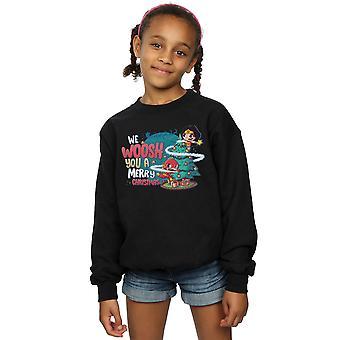 DC Comics meisjes Super vrienden we WHOOSH u een Merry Christmas Sweatshirt