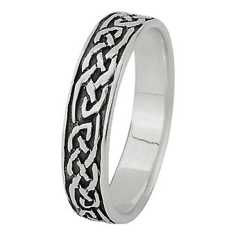 Celtic Eternity Knotwork Band Ring