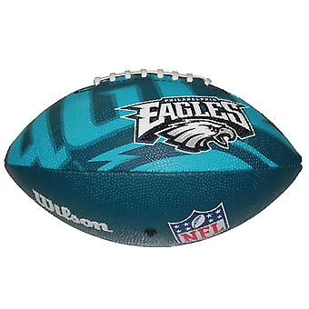 Wilson NFL Team Logo Philadelphia Eagles Junior American Football Blue