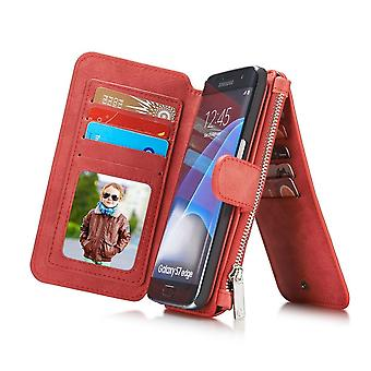 Case For Samsung Galaxy S7 Edge Red Multifunction Portfolio