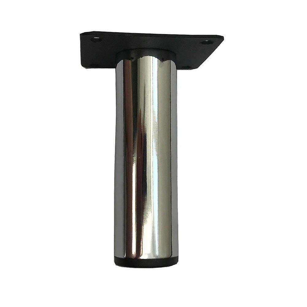 Jambe ronde de meubles de chrome avec la plaque de montage 10 cm