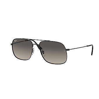 Ray-Ban The Andrea RB3595 901411 Rubber Black/Grey Gradient Dark Grey Sunglasses