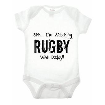 SHH... i ' m sledoval Rugby s Daddy babygrow