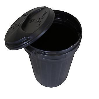 Charles Bentley 80 liter vuilnisbak met deksel