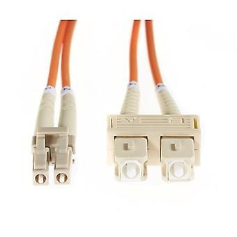 1M Lc Sc Om1 Multimode Fibre Optic Cable Orange
