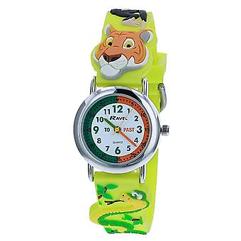 Ravel Time Teacher 3D Tiger Time Jungle Strap Watch + Telling Time Award R1513.78