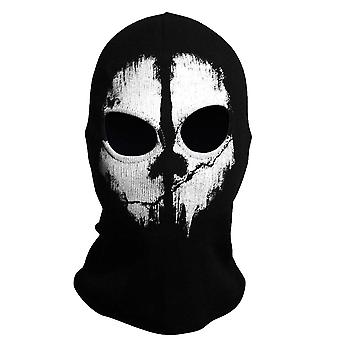 TRIXES Ghost Mask-Balaclava Motorcykelpaintball One Size farve sort