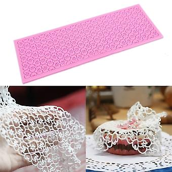 Lace Silicone Mold Mould Sugar Craft Cake Fondant Cake Decorating Love Heart #610