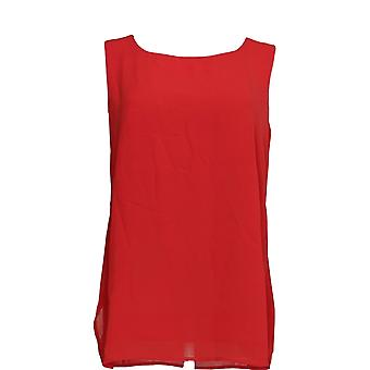 Joan Rivers Classics Collectie Women's Top Double Layer Tank Red A276502