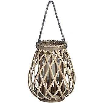 Hill Interiors Wicker Bulbous Lantern