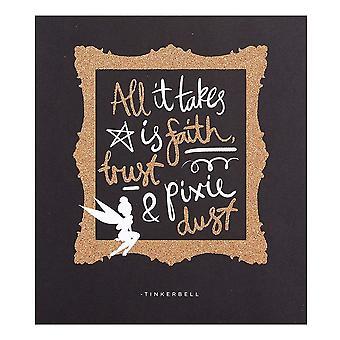 """Hallmark Disney Tinkerbell """"faith, Trust & Pixie Dust"""" 16 X 18cm Blank Card 25454922"""