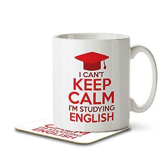 I Can't Keep Calm I'm Studying English - Mug and Coaster