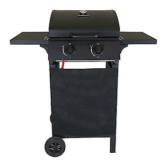 Charles Bentley Deluxe Auto Ignition 2 Burner Gas BBQ Grill Steel Barbecue Black